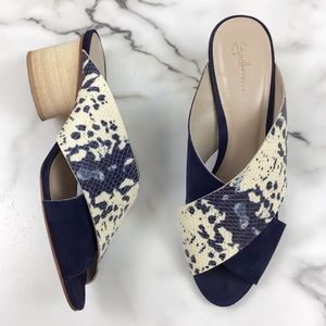 Anthropologie Guilhermina Cross Strap Sandal Heels